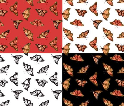 Pastel Monarch butterfly 4 in 1