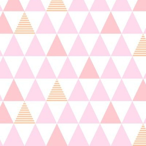 Pink Striped Triangles