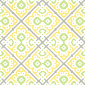 Modern Labyrinth in Yellow & Gray