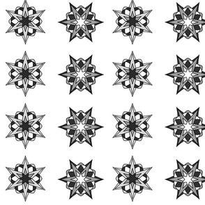 Atomic Stars (b&w)
