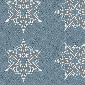 Atomic Stars (silver blue)