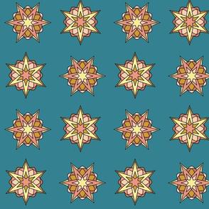 Atomic Stars (peach turquoise)