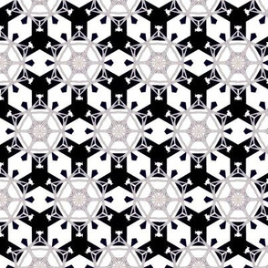 Art Deco hexagonal stars