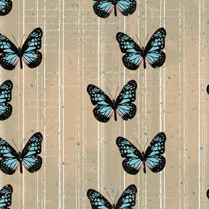 Butterflies Textured Stripe