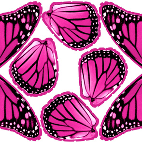Pink Monarch Butterfly Costume Wings