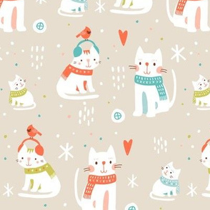 Cozy Winter Cats