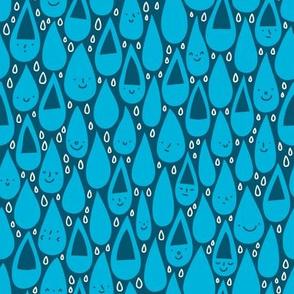 Smiling raindrops
