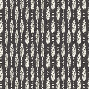 Bohemian Princess - Feathers - Gray & Ivory