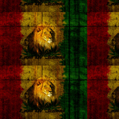 Lion of Judah, with  Rasta colors