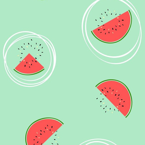 Rolling watermelons