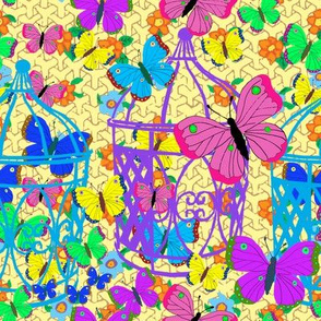 Butterflies in birdcages