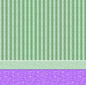 Green & Purple Kelp Stripe with Starfish & Periwinkle