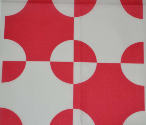 Red and White Steeplechase Quilt Cheater