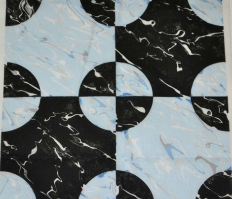 Black and Blue Marble Steeplechase Block