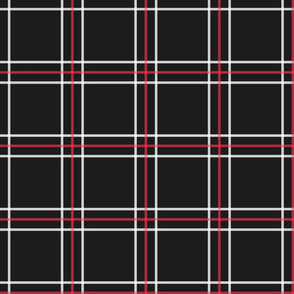 [Traditional Style] Persona 5 Shujin High School Uniform Plaid (Black/Red/White)