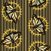 Steampunk Barcode Stripe butterfly motif #1
