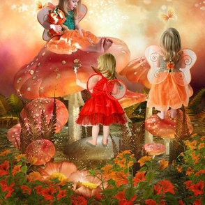 Little toadstool fairies
