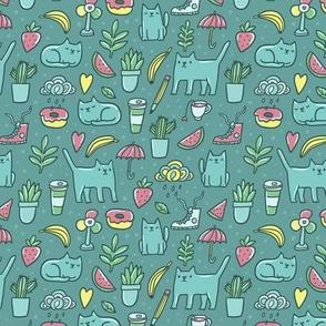 cat, coffee, cactus lover
