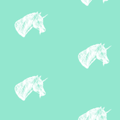 Unicorn_Bust_White_on_Mint