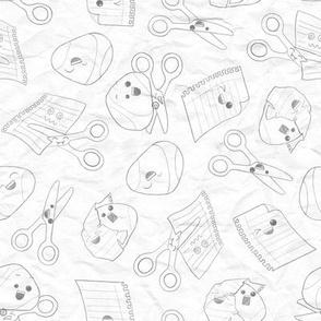 Rock Paper Scissors: wrinkled paper