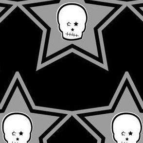 Punk White Skull in Grey Star