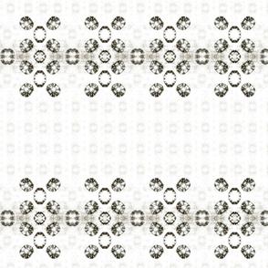 White Shibori style tie-dye design
