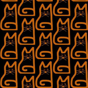 Who Dat Cat Neon Orange Black