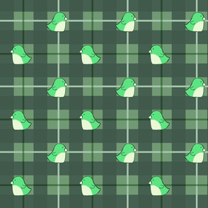 Plaid Penquins - Green