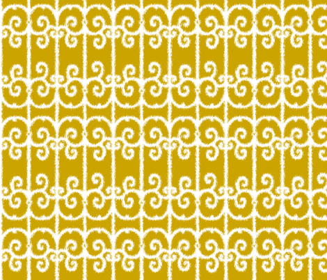 Ikat Wrought Iron Golden Gates