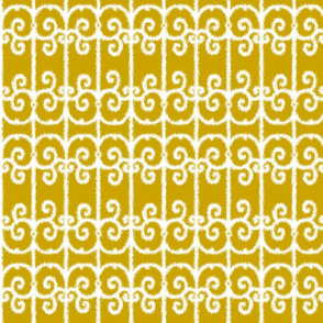 Ikat Wrought Iron Golden Gates