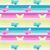 3 butterflies & Stripes