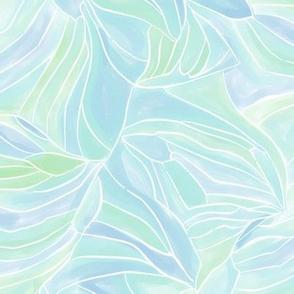 Watercolor Wing Veins (Blue)