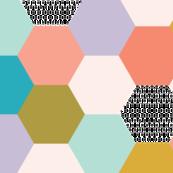 hexagon wholecloth // spring