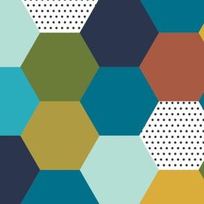 hexagon wholecloth // autumn