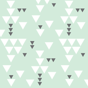 mint charcoal triangle fall // small