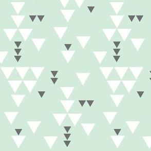 mint charcoal triangle fall // small
