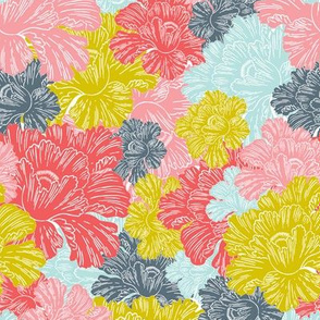 Lush - Colorful Modern Floral Sunset