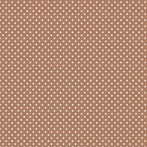 brown polka dots