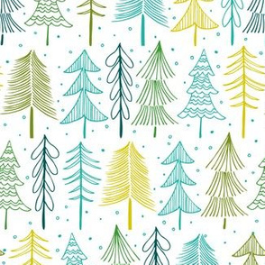 Oh' Christmas Tree - White & Aqua