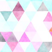 orchid watercolor triangles // oversized
