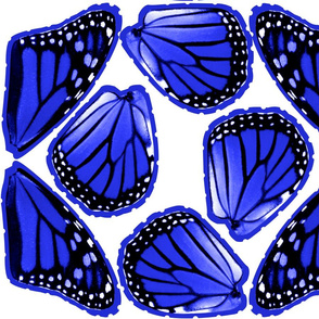 Fat Quarter Blue Monarch Butterfly Costume Wings
