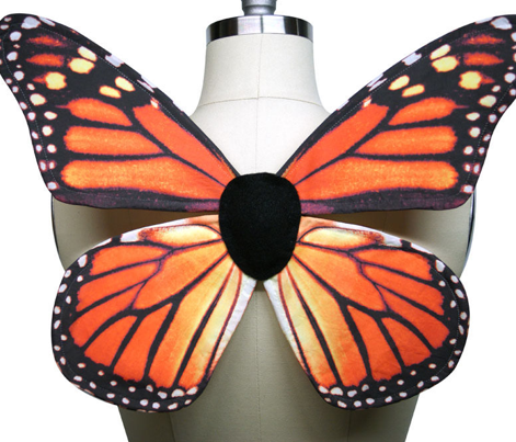 Fat Quarter Orange Monarch Butterfly Wings