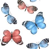 Butterfly pattern 2. Watercolor