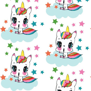 Rainbow Unicorn & Stars