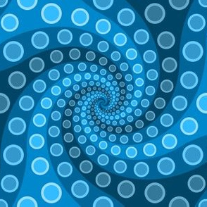 tentacle sucker spiral 3 : azure blue
