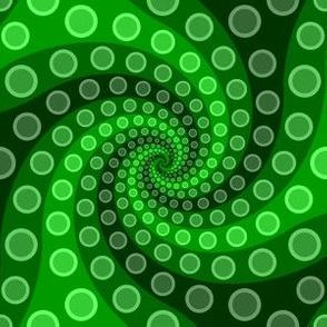 tentacle sucker spiral 3 : emerald green