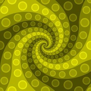 tentacle sucker spiral 3 : yellow moss