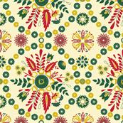 Petrykivka seamless pattern