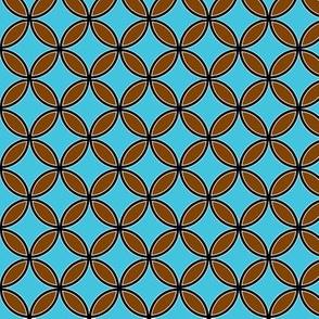 BrownandTurquoiseFlowercircles