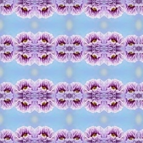 Violet Peony Flower mirror